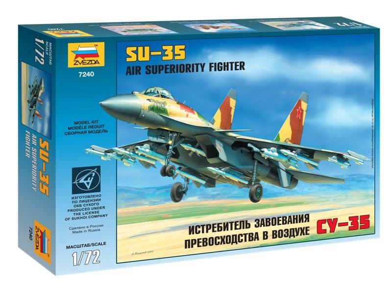 Сборная модель Российский истребитель-бомбардировщик Су-35 1/72