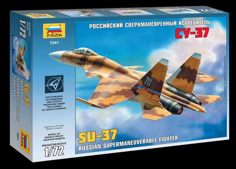 Сборная модель Российский сверхманевренный истребитель Су-37 1/72