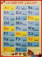 Плакат Английский алфавит с транскрипцией: Нагл. пособие для нач. школы