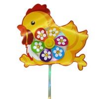 Вертушка Цыпленок эл. на бат. свет, 28x28см, эл.пит не включены в комп.