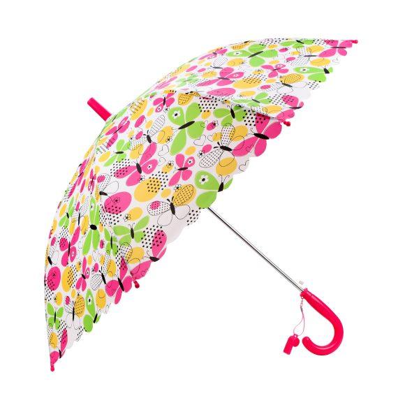 Зонт детский Летние бабочки 48см полуавтомат со свистком