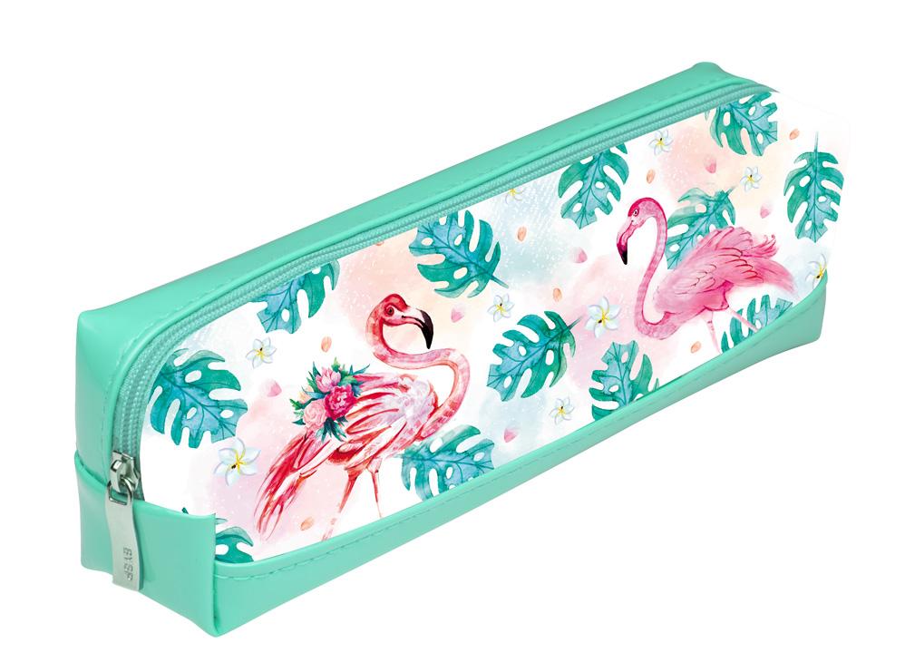 Пенал-косметичка Hatber Фламинго мята