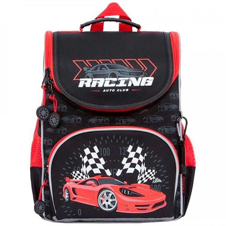Ранец Grizzly Racing черно-красный с мешком