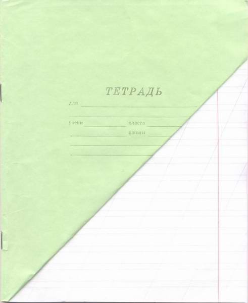 Тетрадь 12л линейка косая (зеленка)