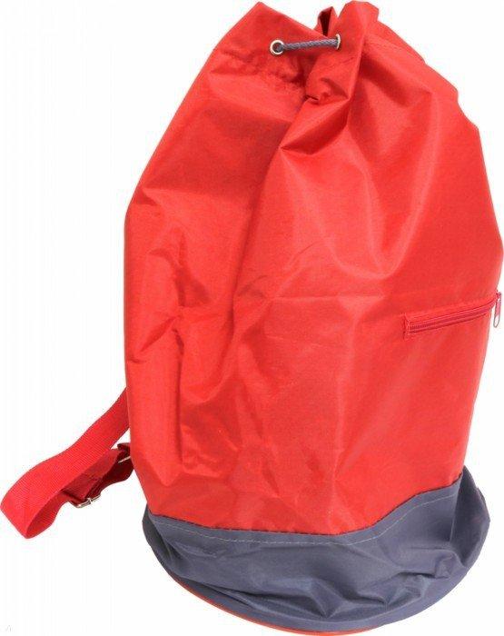 Сумка-мешок с круглым дном красно-серая