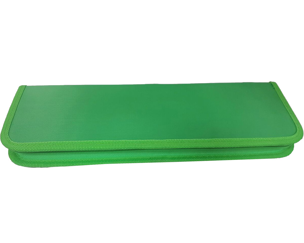 Пенал для кистей 100*380 зеленый тканевый