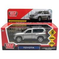 Машина Toyota Prado 12см металл открыв. двери, инерц, серебристый