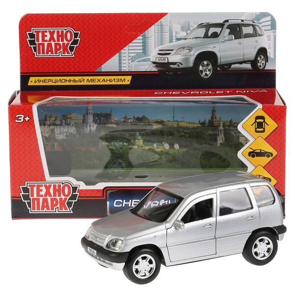 Машина Chevrolet Niva 12см открыв. двери, инерц, серебр.