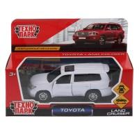 Машина Toyota Land Cruiser 12,5см, металл, откр. двери, инерц. белый