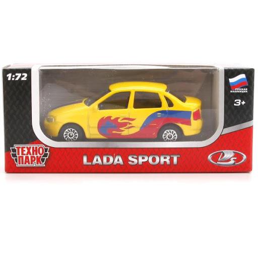 Машина Lada 7,5см металл, в спорт окрасе, в ассорт.