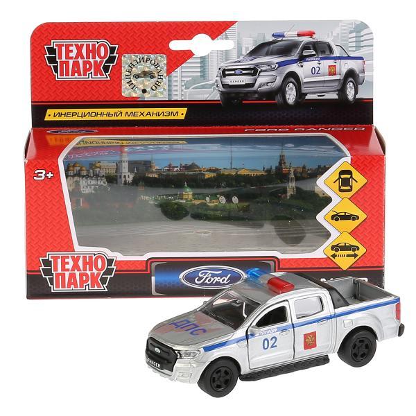 Машина Ford ranger Пикап Полиция 12см, металл, открыв. двери, инерц.