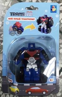 Трансформер Мой первый трансформер 6см (собир в грузовик) син пласт