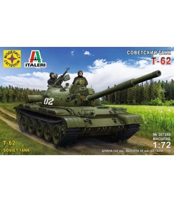 Сборная модель Советский танк Т-62  (1:72)