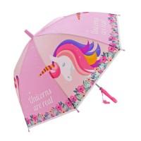 Зонт детский Единорог 48см свисток полуавтомат