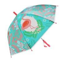 Зонт детский Фламинго 48см свисток полуавтомат