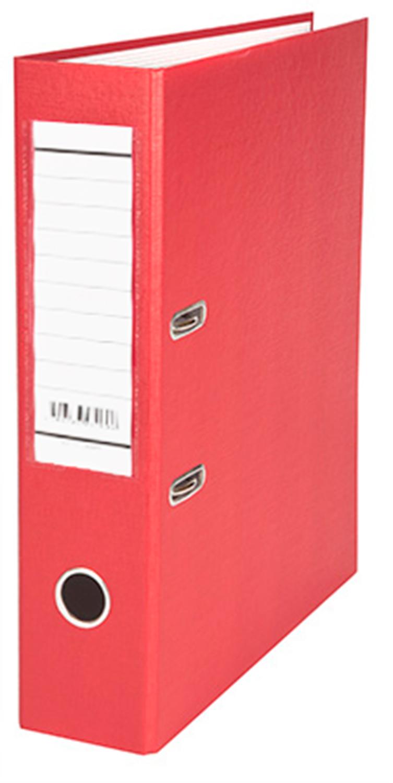 Папка-регистратор 70мм красная бумвинил, карман на корешке