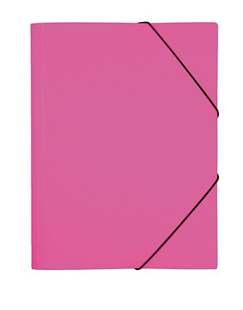 Папка на резинках А4 Hatber DIAMOND NEON Розовая