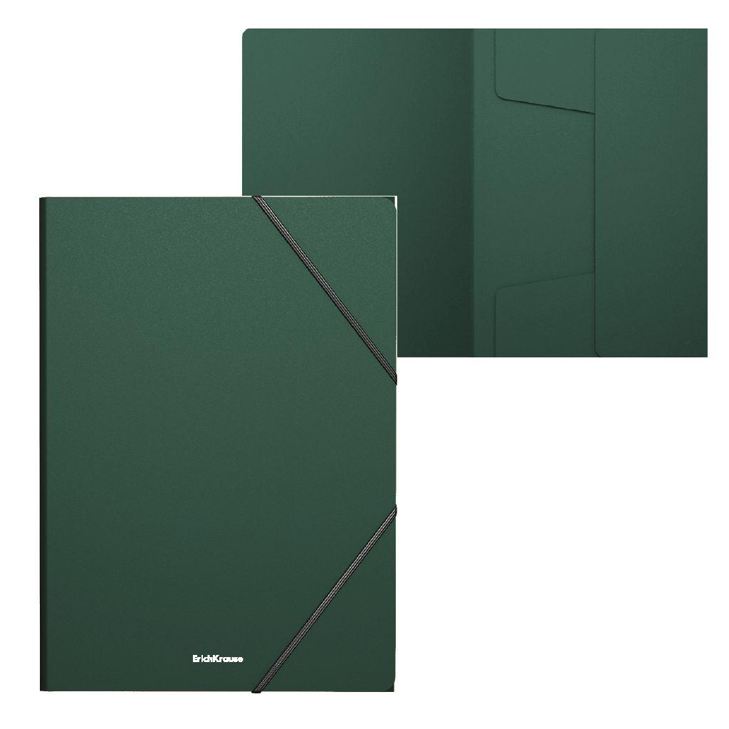 Папка на резинках А4 EK Classic зеленая