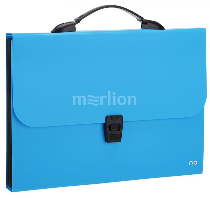Портфель с ручкой 7отд Deli Rio ассорти 0,6мм