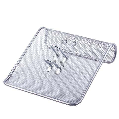 Подставка д/календаря металлич. сетка серебро 57*200*200