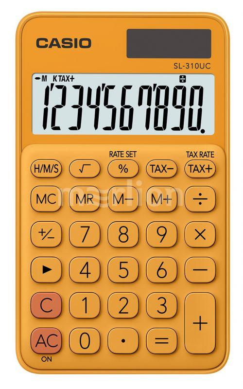 Калькулятор 10 разр. Casio карманный оранжевый