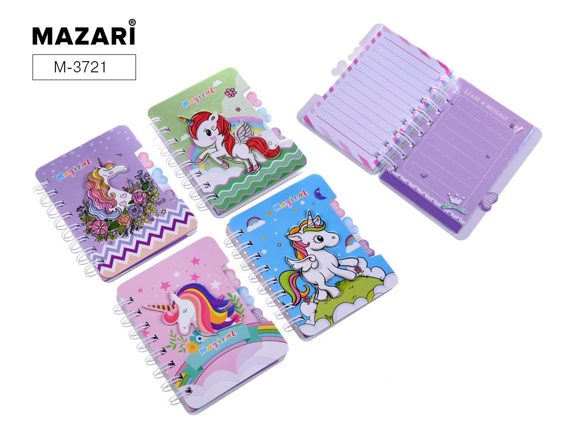 Зап. книжка А6 60л спир Mazari Unicorn mix + ручка