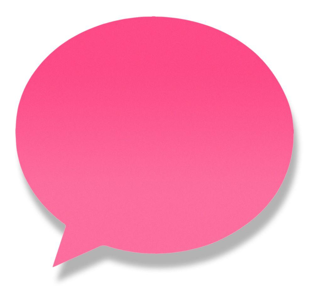Блок липкий 50л Диалог неон розовая