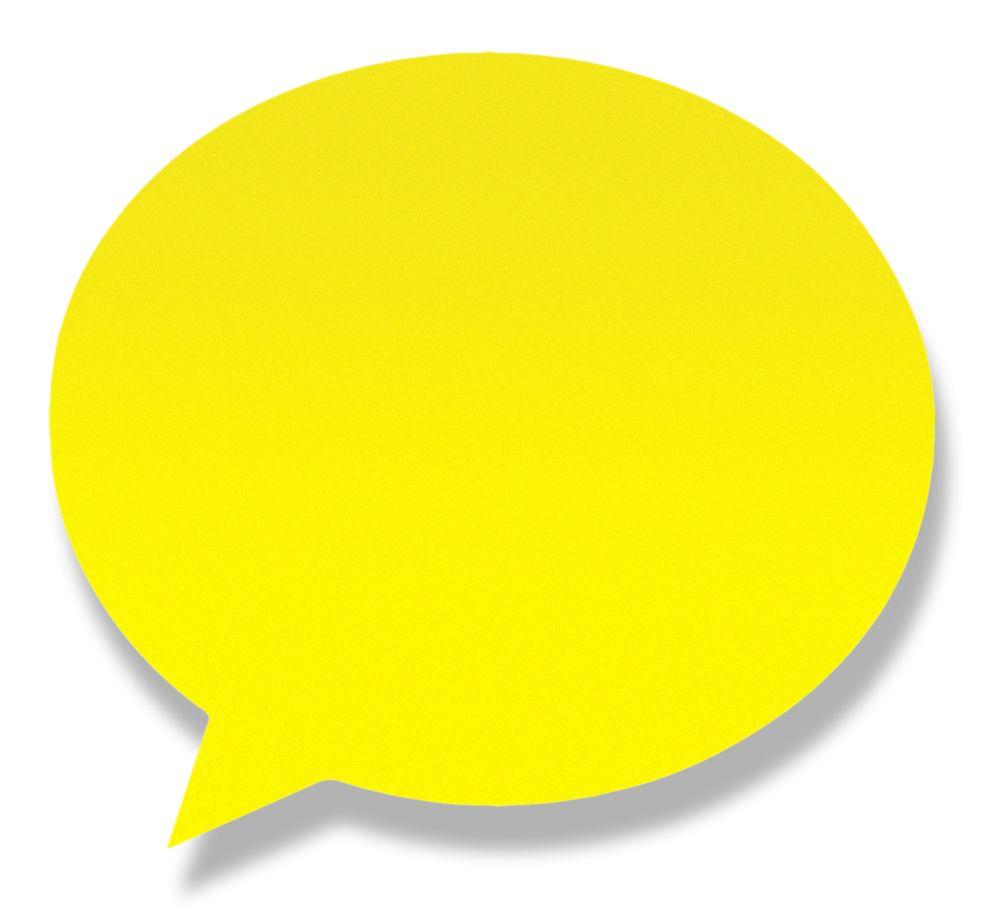 Блок липкий 50л Диалог неон желтая