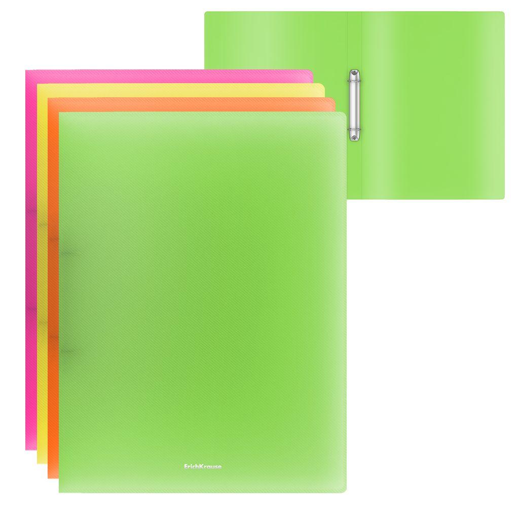 Папка с 2 кольцами 24мм EK Glance Neon ассорти