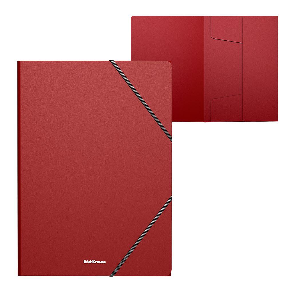 Папка на резинках А4 EK Classic красная