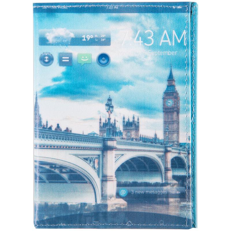 Обложка для паспорта Office Space Print: Big Ben кожа тип 2