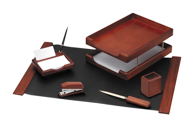 Набор настольный Hatber 6пр дерево Темно-коричневый орех