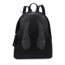 Рюкзак молодежный Orsoro черный экокожа