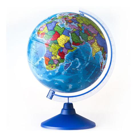 Глобус d-25 политический М 1:40000000 круглая голубая подставка