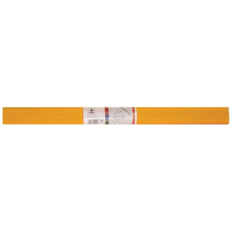 Творч Бумага креповая 50*250см светло-оранжевая