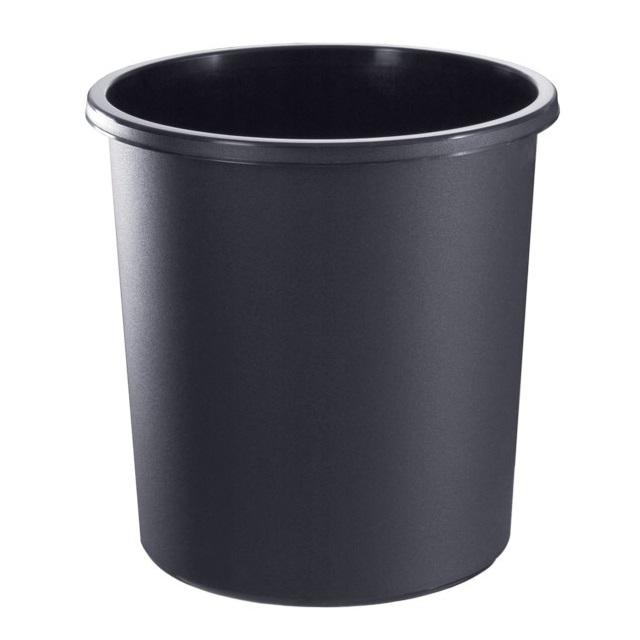 Корзина д/бумаг 18л цельная черная