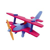 АКЦИЯ19 Игр Конструктор мягкий 3D Техник Самолет 9 деталей