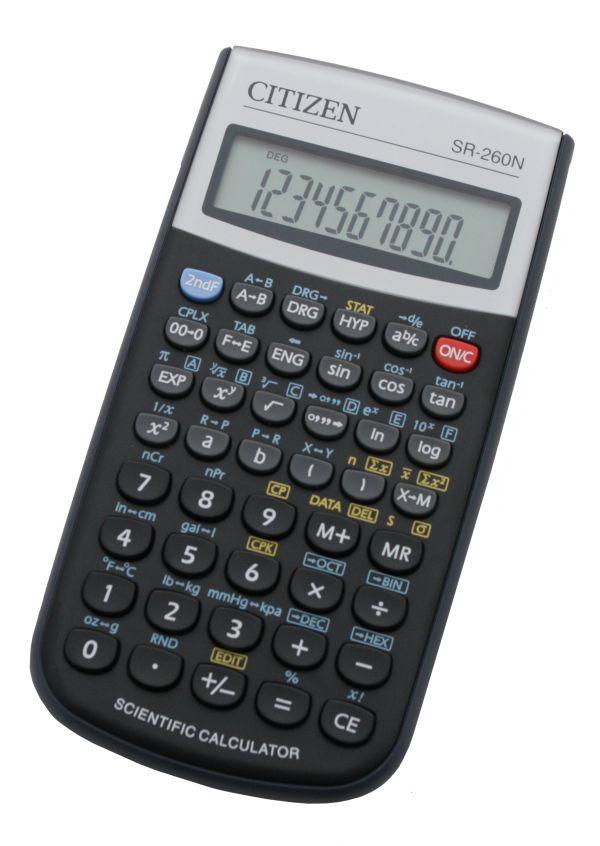 Калькулятор научный 10+2 разр. CITIZEN 165 функций