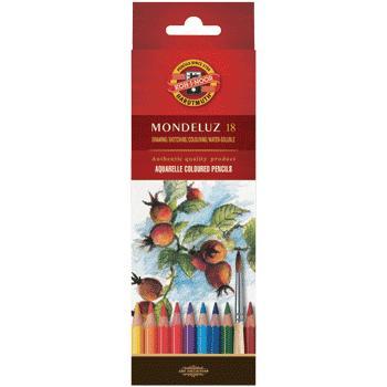 Карандаши цветные 18 цв K-I-N Mondeluz акварельные