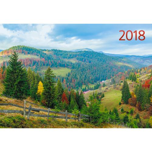 Календарь квартальный 2018 ККОМ1813 Природа. Очарование осени