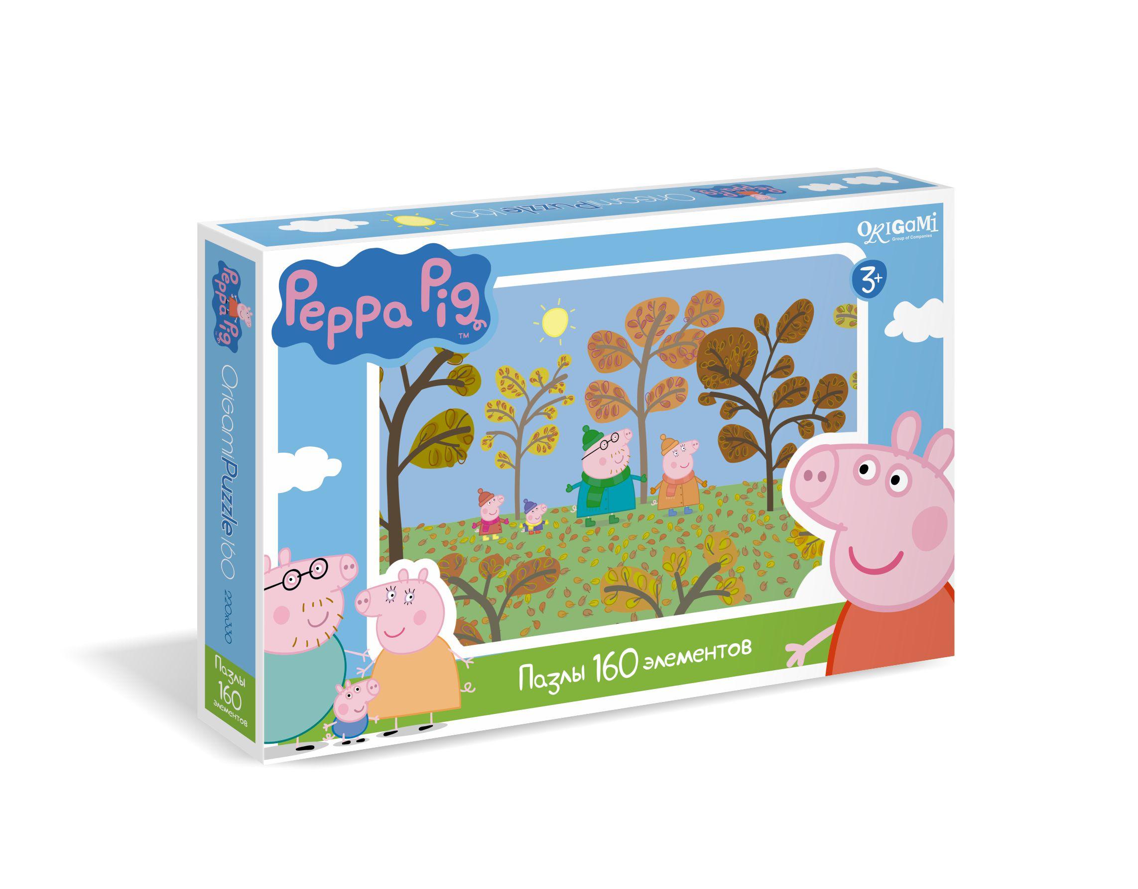 Пазл 160 Origami 01541 Peppa Pig. Путешествие