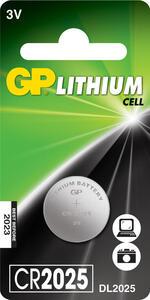 Батарейка GP 3V d-20*2.5мм ПОШТУЧНО плоская