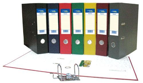Папка-регистратор 70мм Expert черный бумвинил