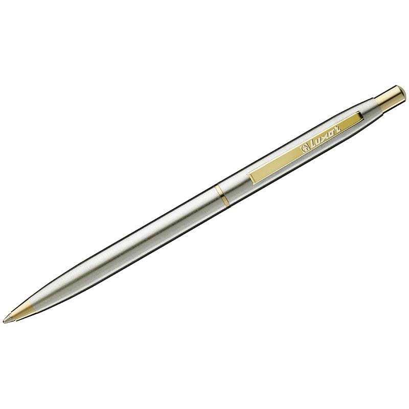 Ручка подар перо Luxor Sterling синяя 0,8мм корп хром золото