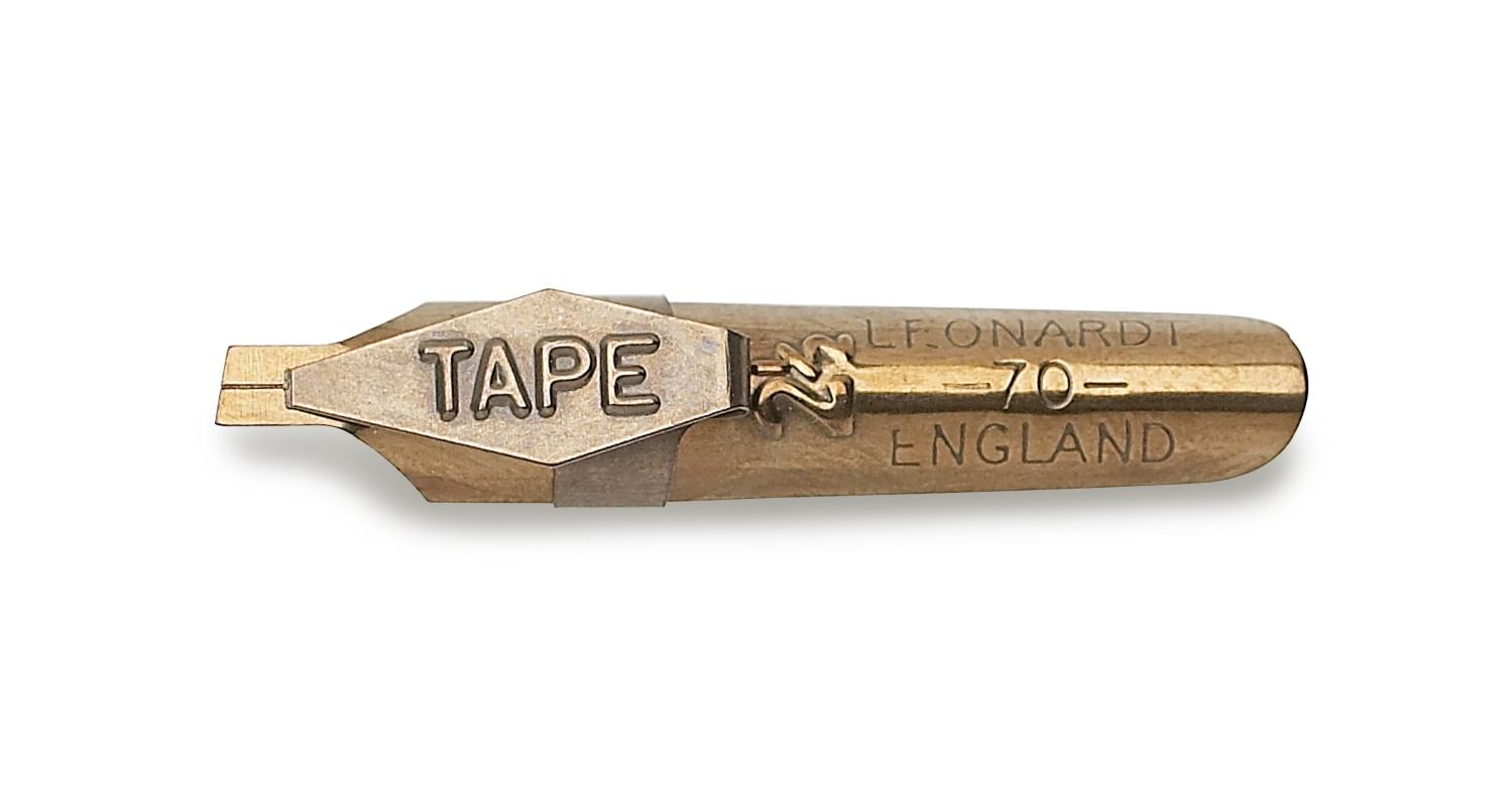 Перо Manuscript Tape 2,5мм Бронзовое с наконечником