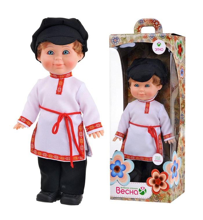Кукла Митя в русском костюме озвуч.
