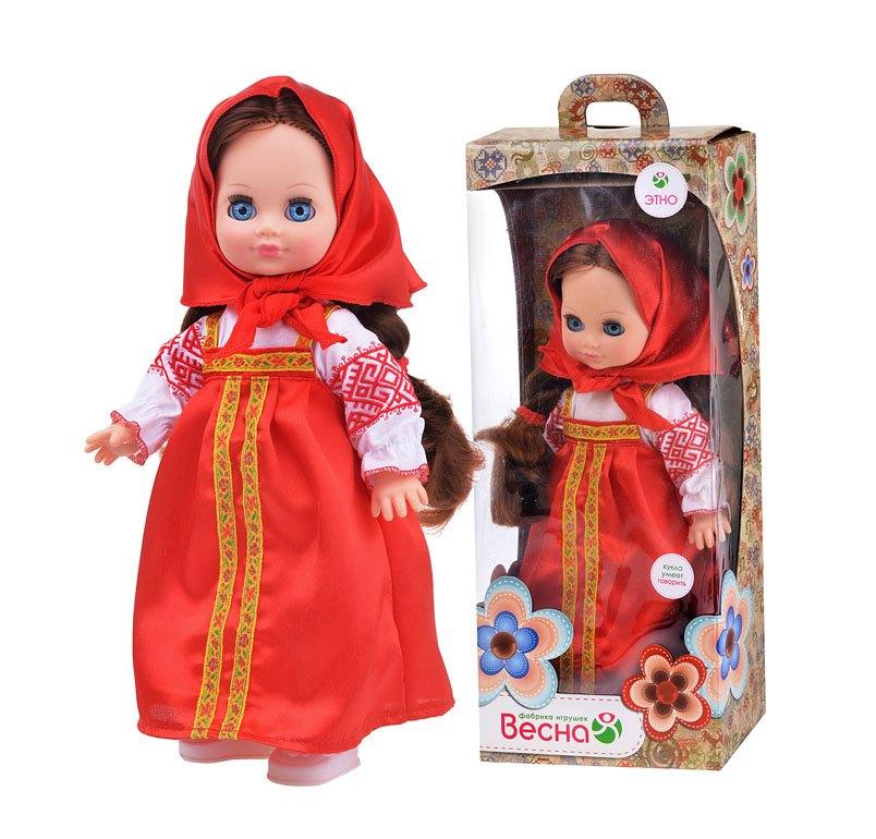 Кукла Элла в русском костюме озвуч