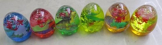 Мяшка с растением и динозавром в яйце, 122гр 8.5cm