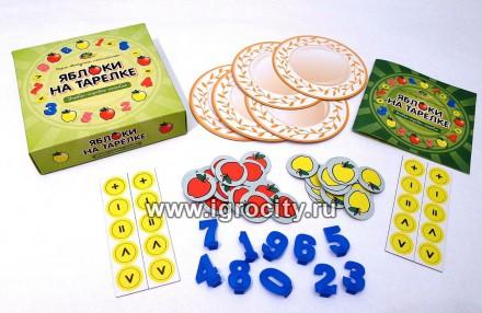 Настольная Яблоки на тарелке