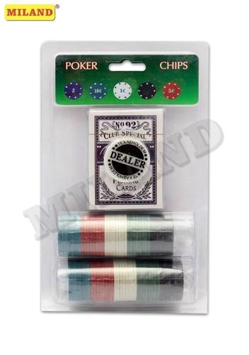Набор для покера Дорожный, 80 фишек